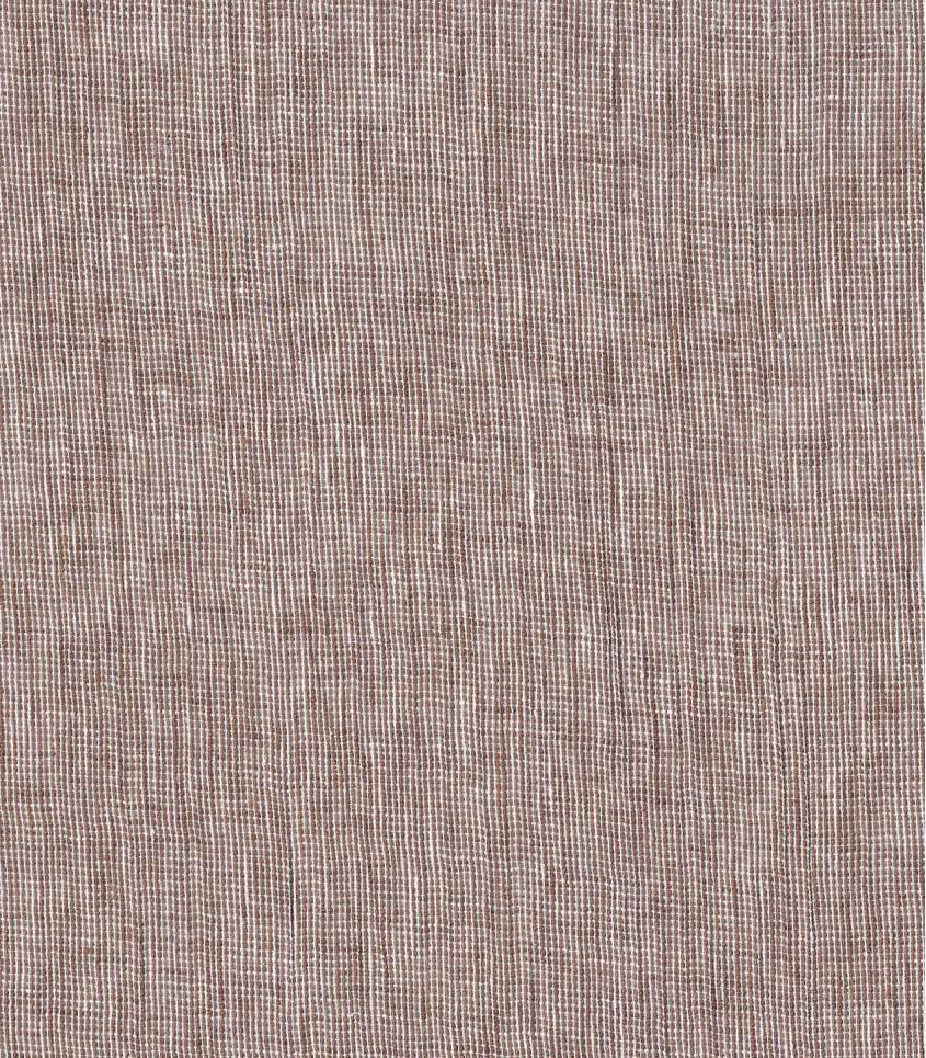 Tissu lin coton - chambray Tabacco