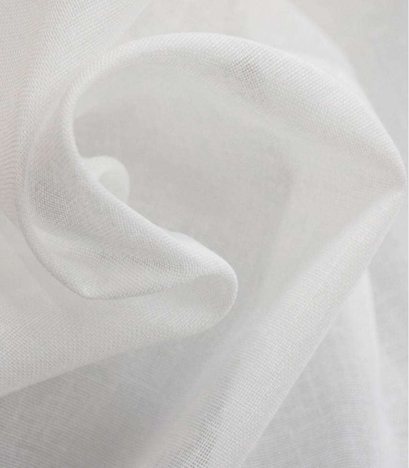 Mousseline de coton blanc - agrée contact alimentaire
