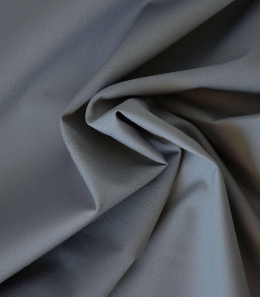 Tissu popeline de coton gris clair