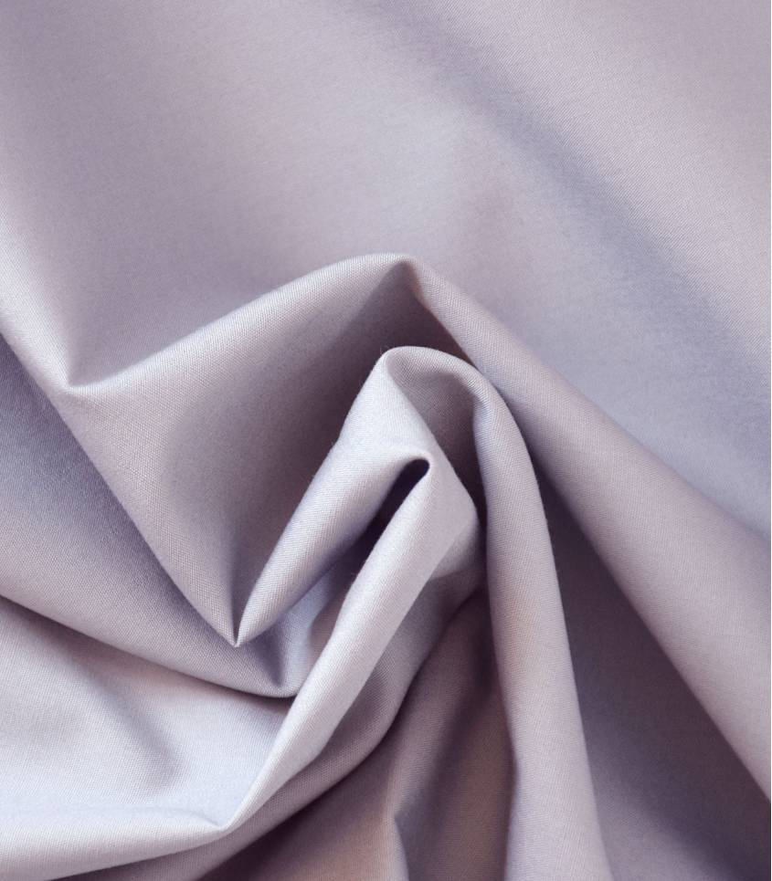 Tissu popeline de coton gris/mauve