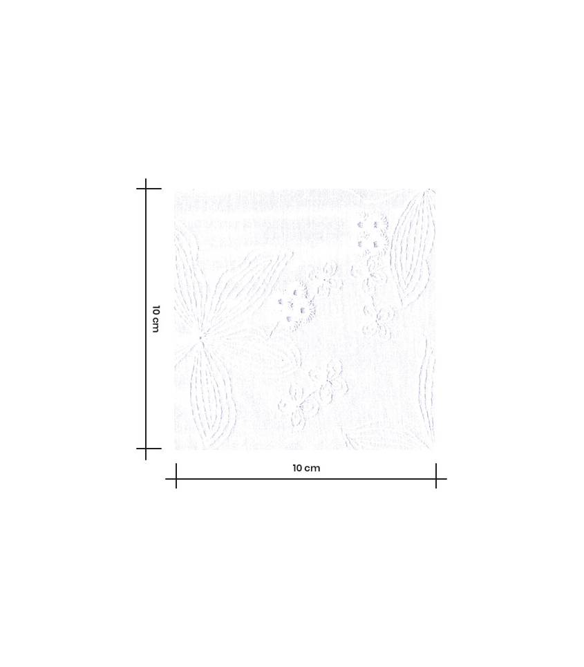 Broderie anglaise Clematite - blanche
