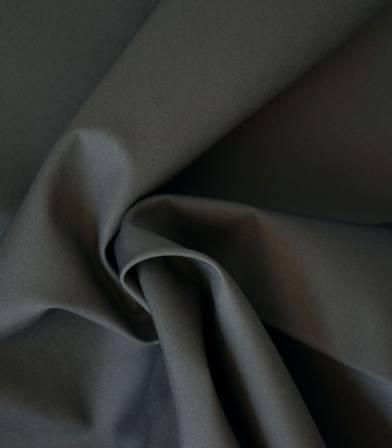 Tissu popeline de coton gris souris