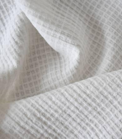 Tissu coton Mini carreaux gaufrés