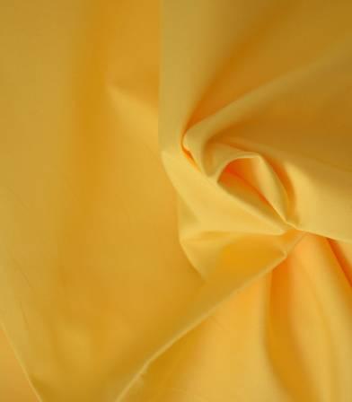 Tissu popeline de coton jaune