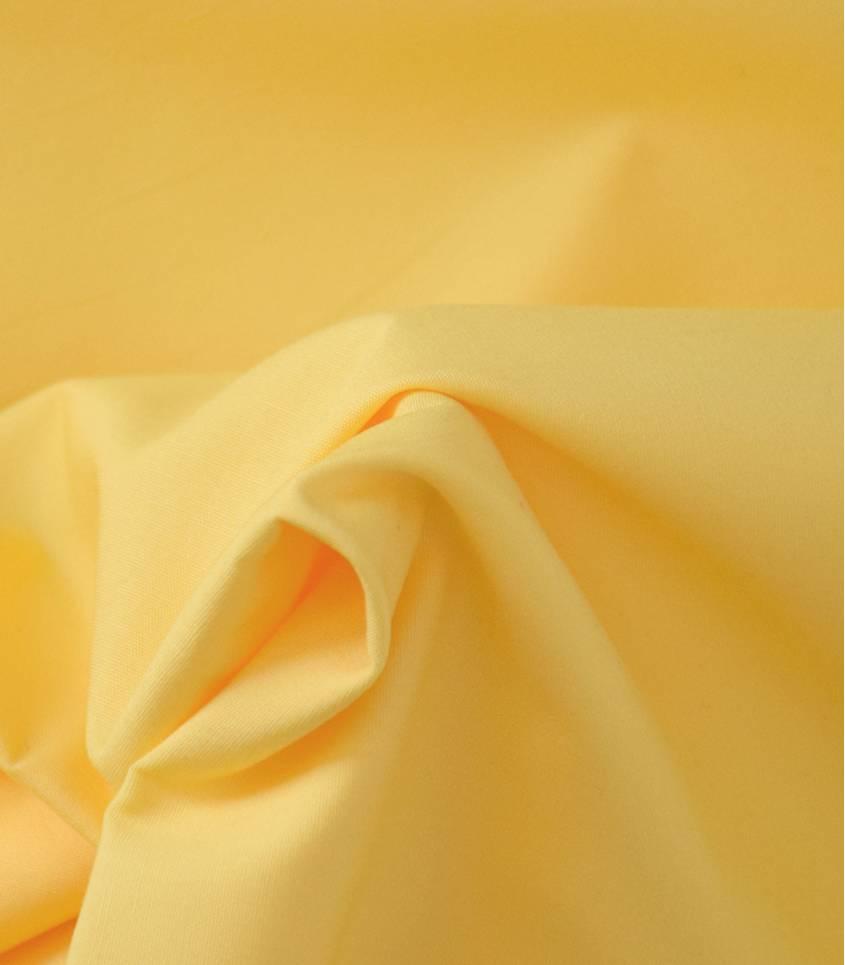 Tissu popeline de coton jaune soleil