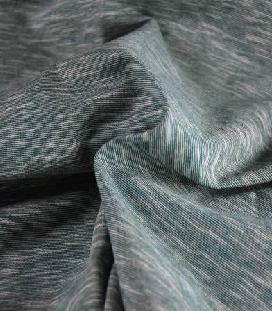 Tissu jersey coton - Mini rayures Sea pine