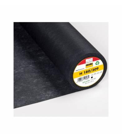 Entoilage non-tissé noir H180