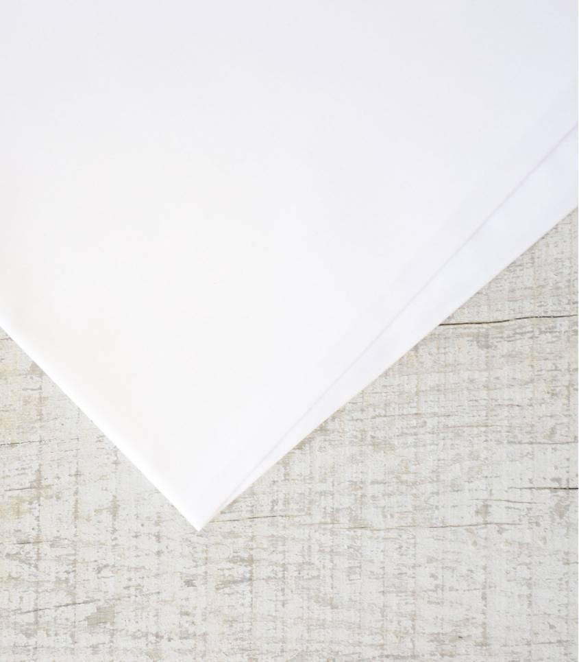 Tissu popeline de coton Bio - Blanche