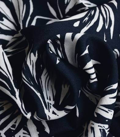 Tissu viscose Flower Ethnic - Dark blue