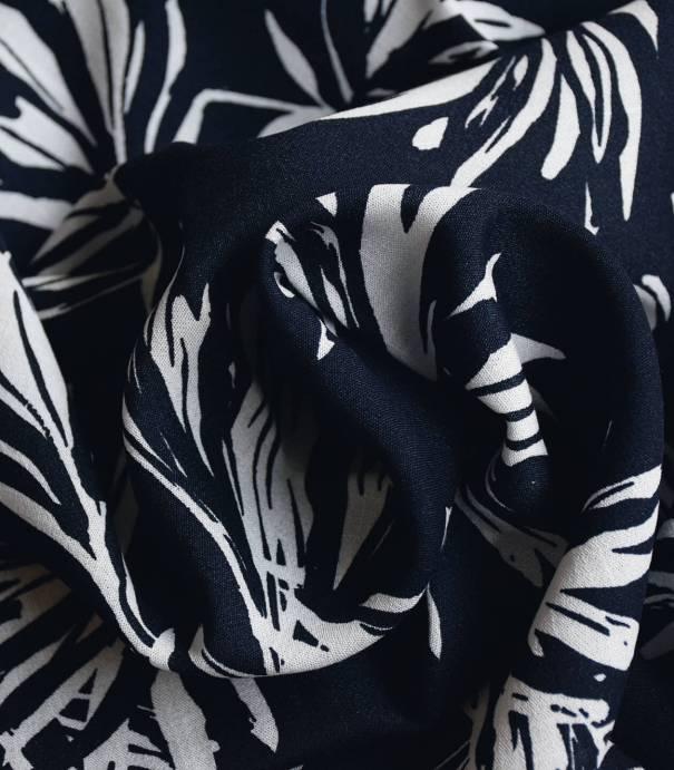 Tissu viscose Flower Ethnic - Dark blue