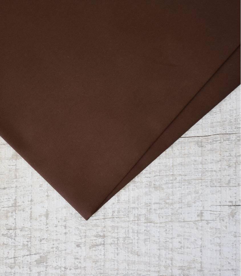 Tissu popeline de coton choco