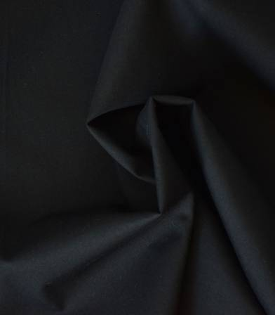 Tissu popeline de coton noire