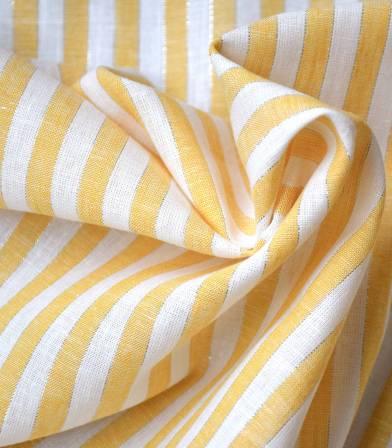 Tissu lin rayure Margaret - Curry