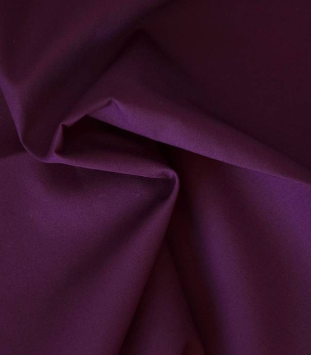 Tissu popeline de coton prune