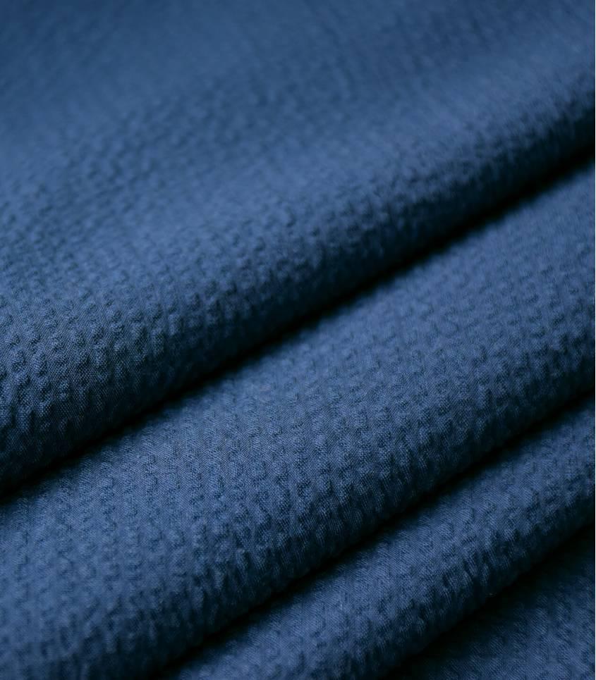 Seersucker unis bleu marine
