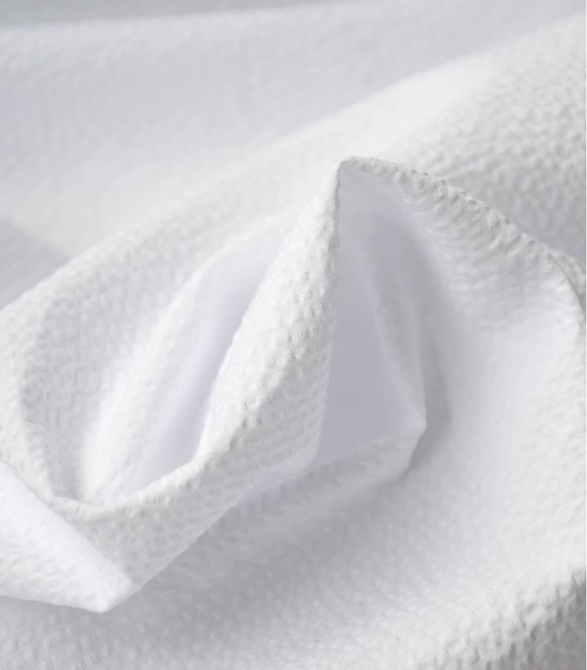 Seersucker unis blanc