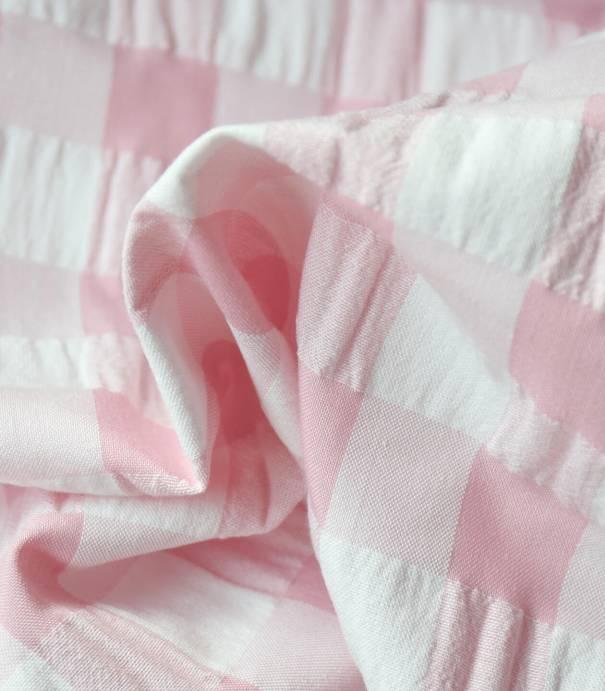 Tissu Vichy crépon pink
