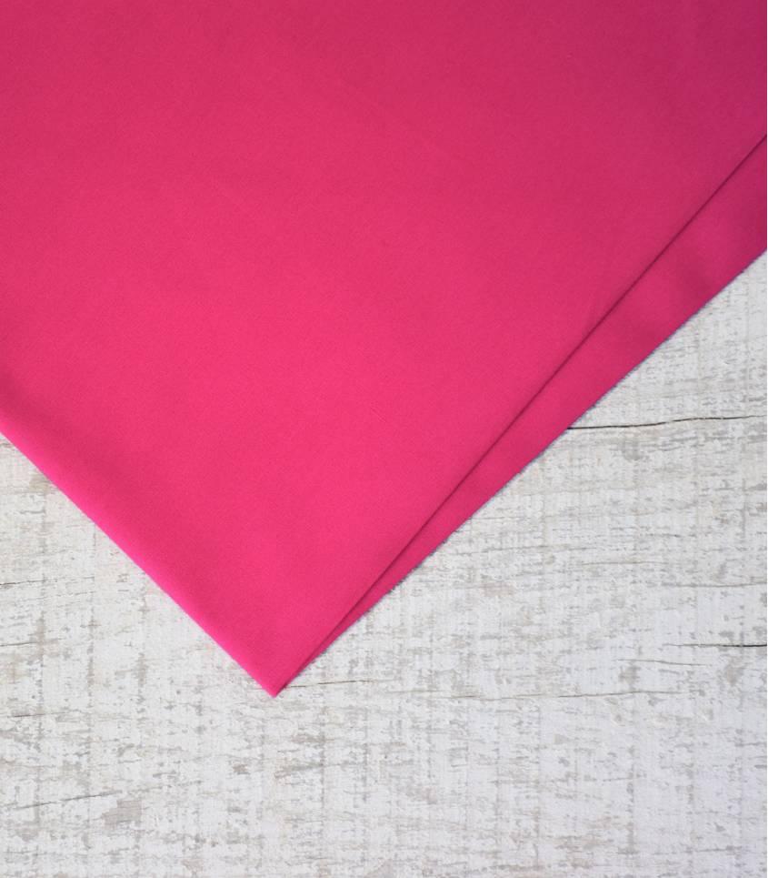 Tissu popeline de coton rose fuschia