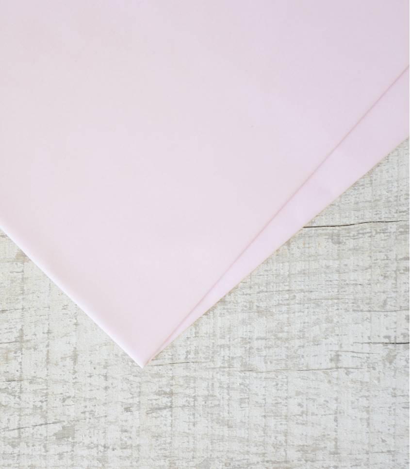 Tissu popeline de coton rose pétale