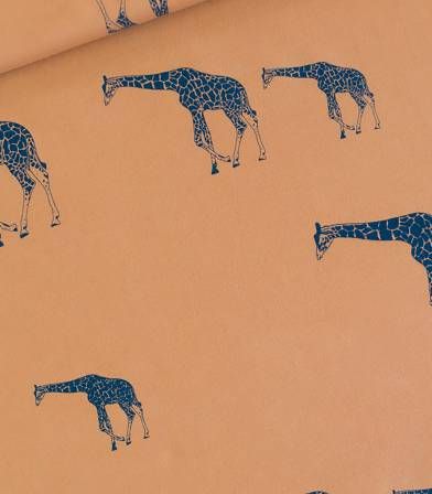Tissu French terry Giraffe - Brun cathay