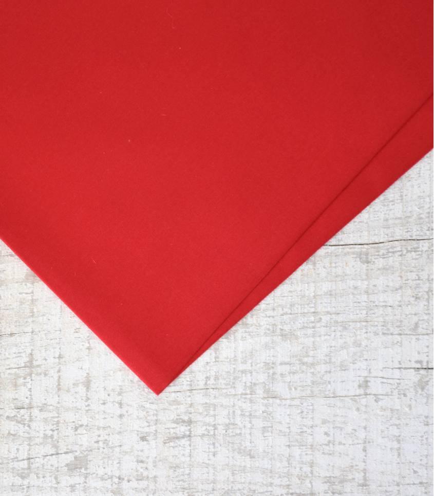 Tissu popeline de coton rouge