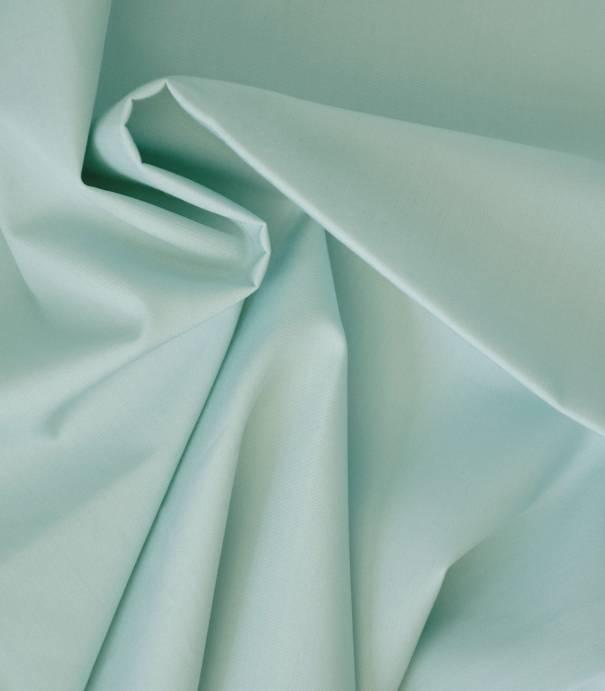 Tissu popeline de coton vert céladon