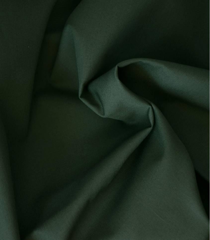 Tissu popeline de coton kaki