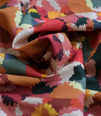 Tissu viscose Bouquet d'été