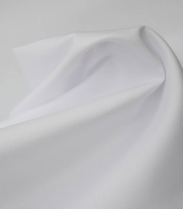 Tissu blouses poly-coton hydrofuge  blanc