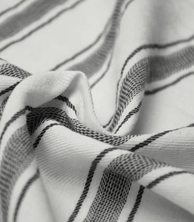 Tissu coton rayures - marakech - Black