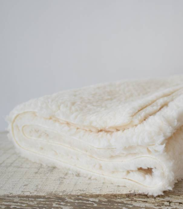 Tissu Fausse fourrure mouton écru