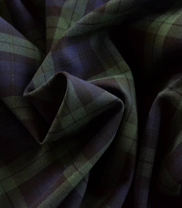 Tissu tartan Dark green