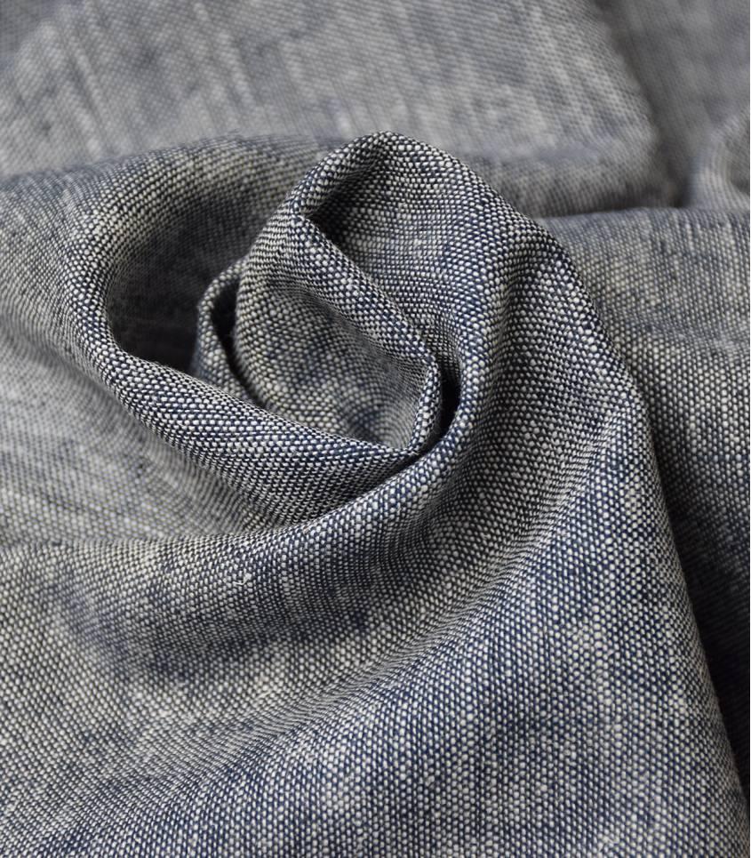 Tissu lin viscose - chambray