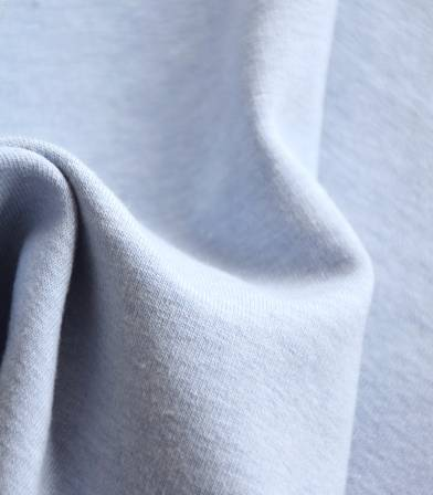 Tissu molleton coton bio - bleu