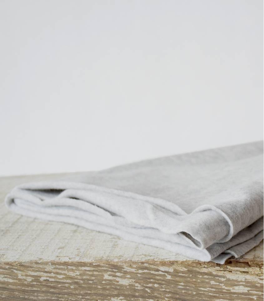 Tissu molleton coton bio - gris