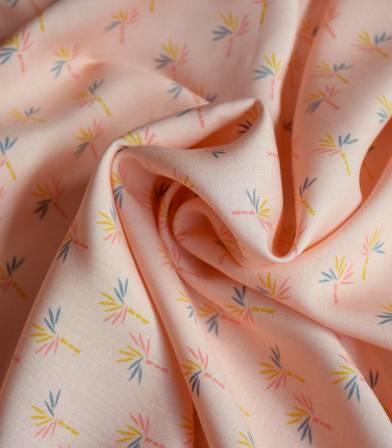 Tissu viscose Bambouseraie - Rose