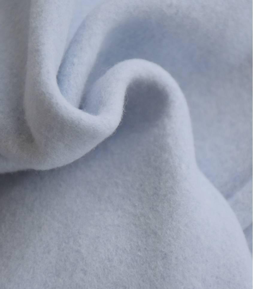 Tissu polaire coton bio - bleu