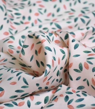 Tissu viscose Pétales - Nude