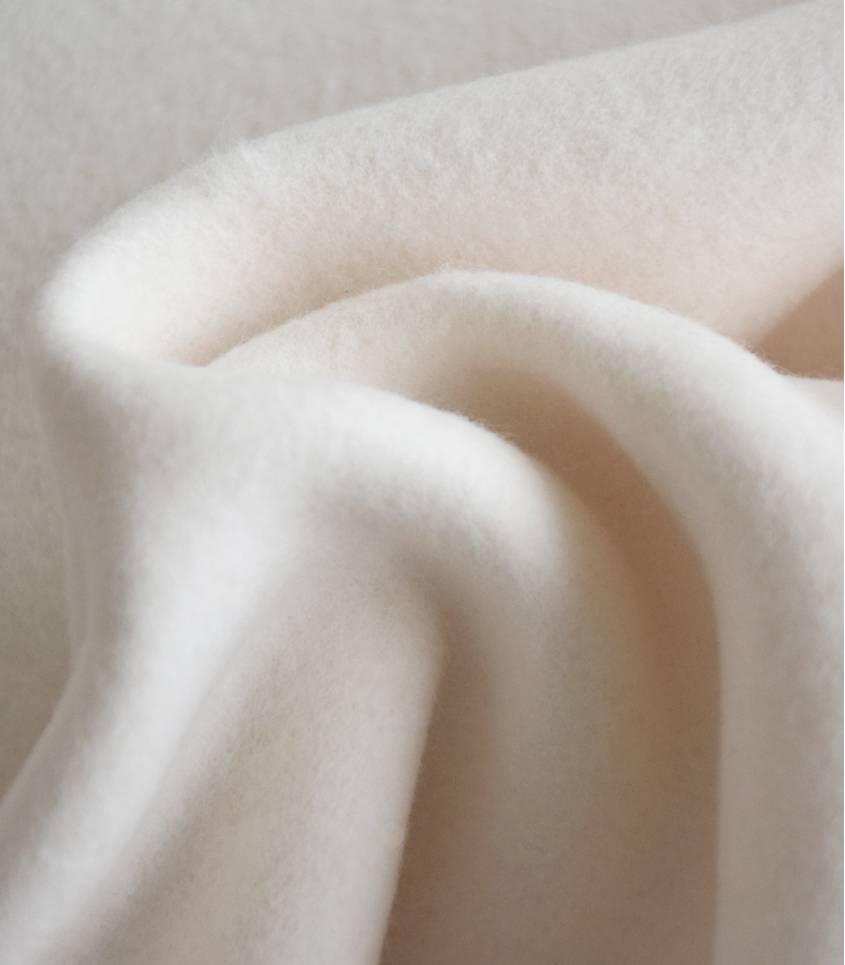Tissu polaire coton bio - écrue