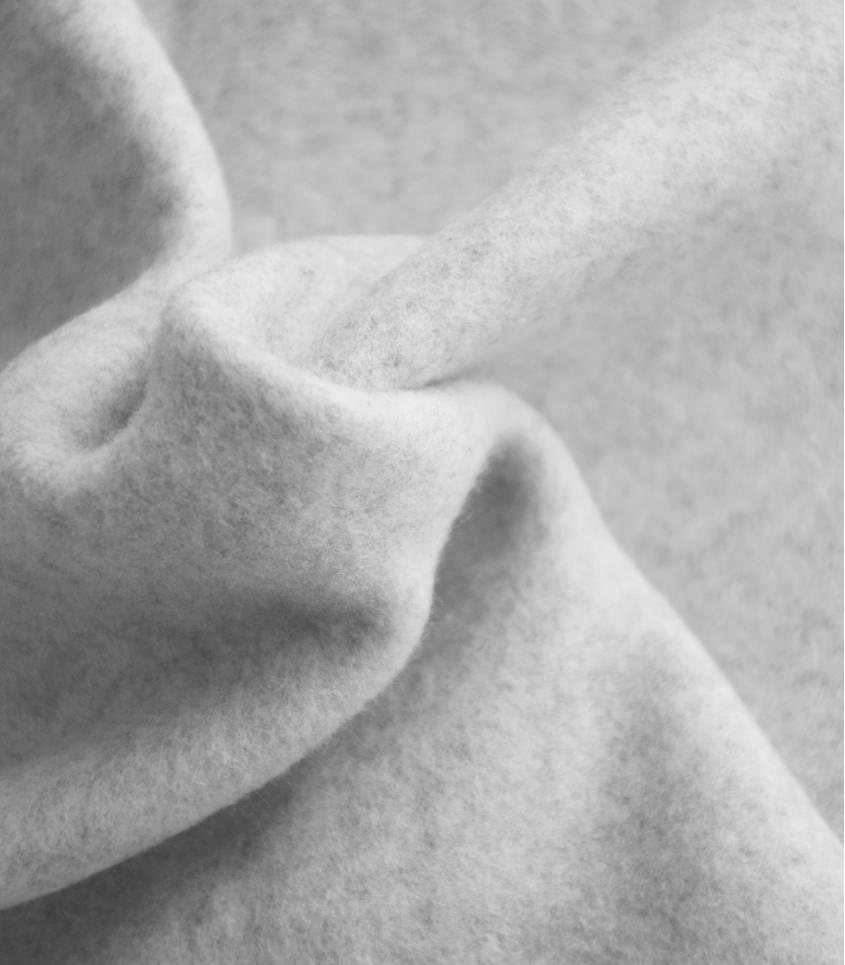 Tissu polaire coton bio - gris clair chiné