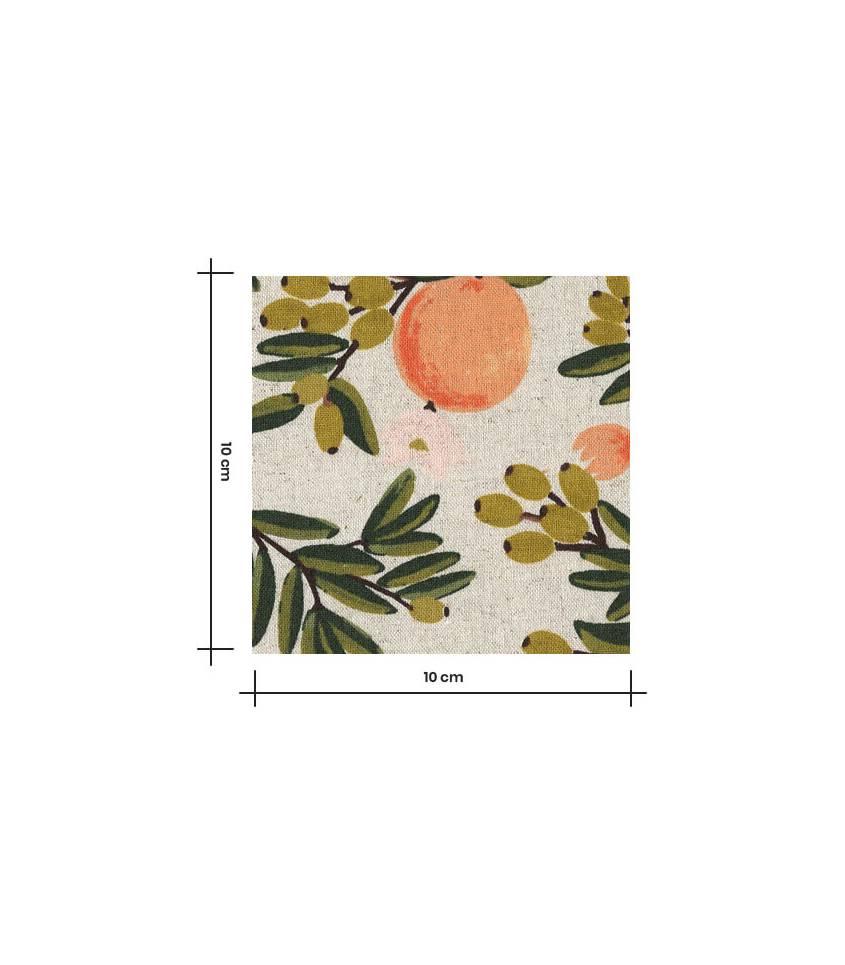 Tissu Canvas Primavera Citrus Floral - Sand