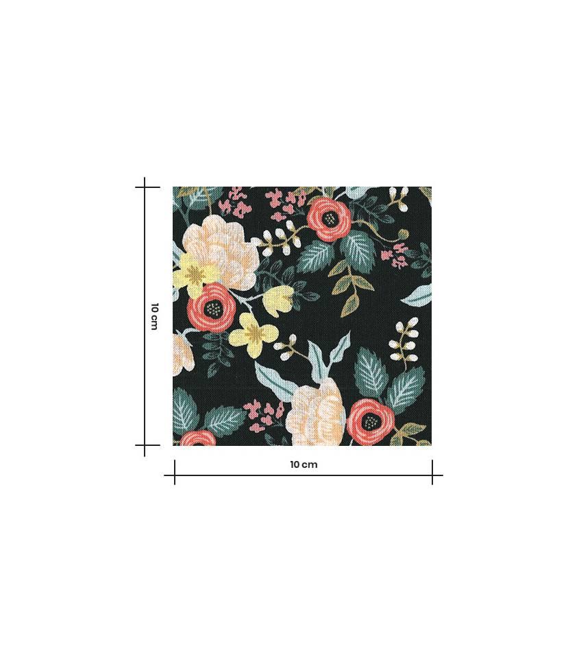 Tissu coton Primavera Birch - Black