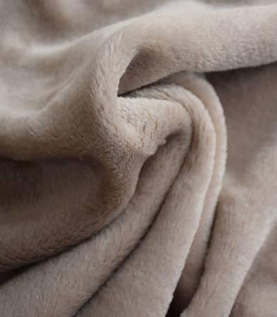 Tissu polaire doudou beige