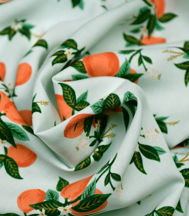 Viscose Primavera - Citrus Blossom - Orange