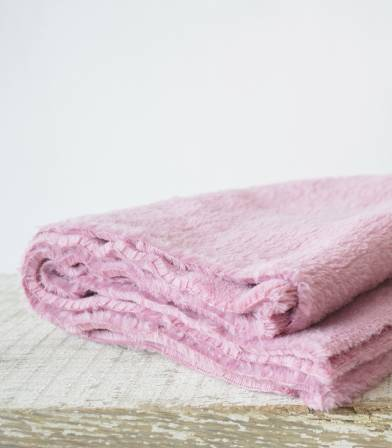 Tissu polaire doudou bois de rose