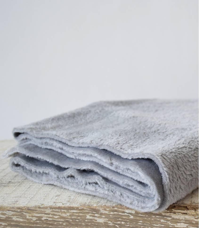 Tissu polaire doudou gris