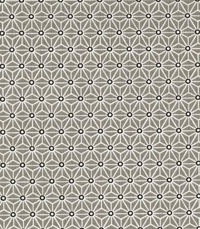 Tissu Saki taupe/blanc