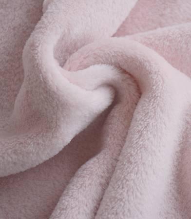 Tissu polaire doudou rose poudré