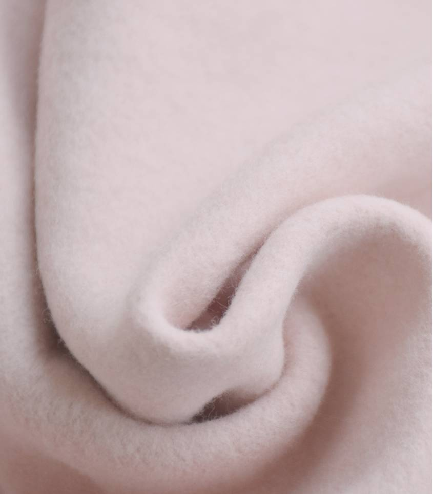Tissu polaire coton bio - rose