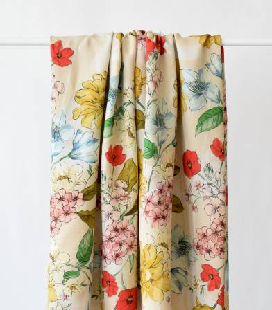 Tissu viscose Summer flowers